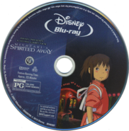 Le Voyage de Chihiro (CD disque Blu-Ray anglaise)