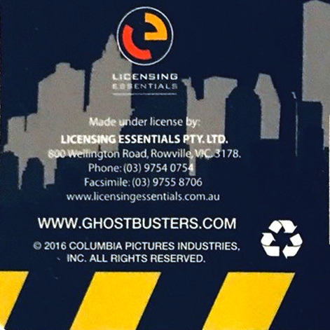 Licensing Essentials produced Ghostbusters Merchandise line