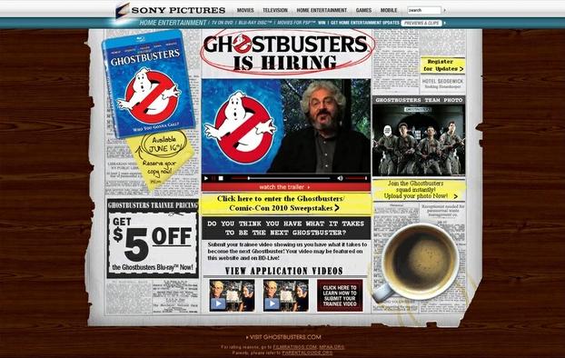 Ghostbusters is Hiring! (Web Site)