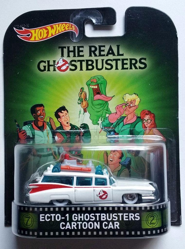 Hot Wheels Ecto-1 Ghostbusters Cartoon Car