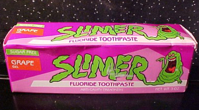 The Real Ghostbusters: Slimer Toothpaste line by Perio Products