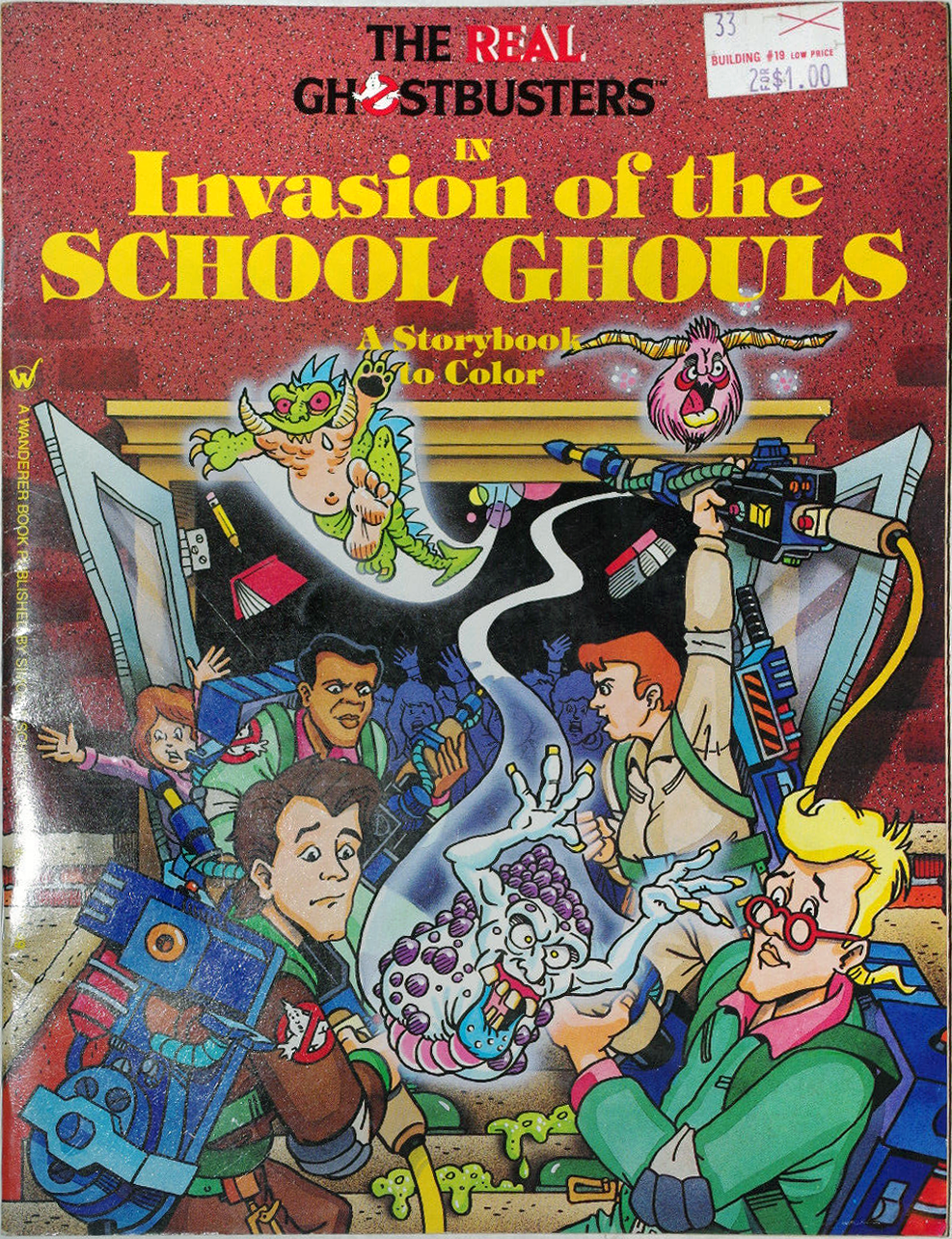 The Real Ghostbusters in Invasion of the School Ghouls: A Storybook to Color