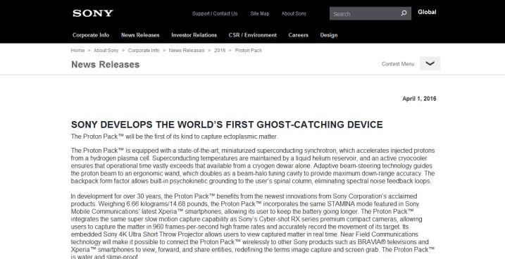 Proton-Pack (Web Site)