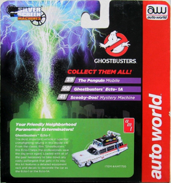 AW AUTO WORLD  RELEASE 8 SILVER SCREENS GHOSTBUSTERS ECTO-1A HO SLOT CAR