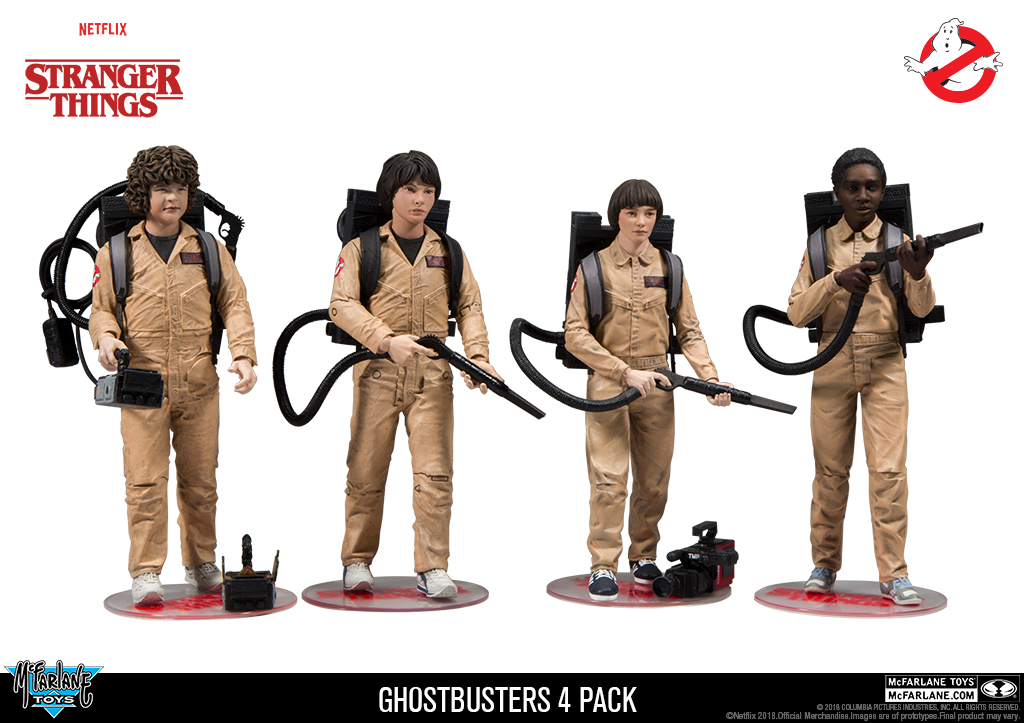 Stranger Things x Ghostbusters: Dustin, Mike, Will & Lucas (action figure set)