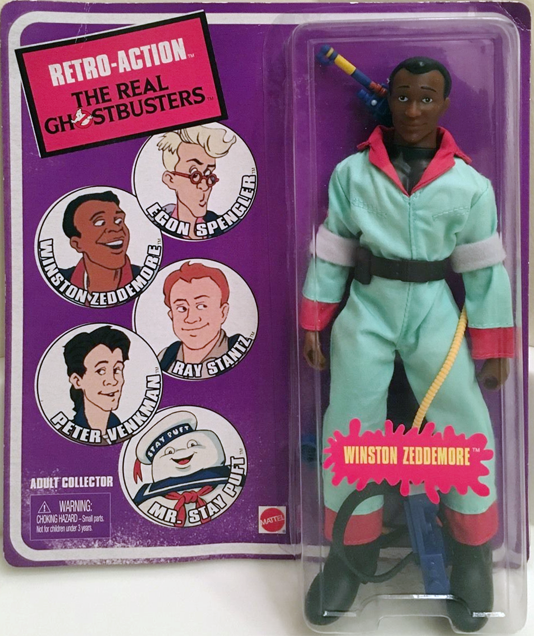 Matty Collector: Retro-Action The Real Ghostbusters Winston Zeddemore