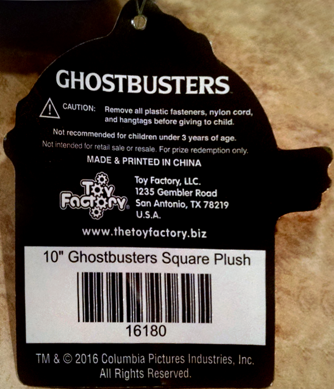 Toy Factory, LLC produced Ghostbusters Merchandise line