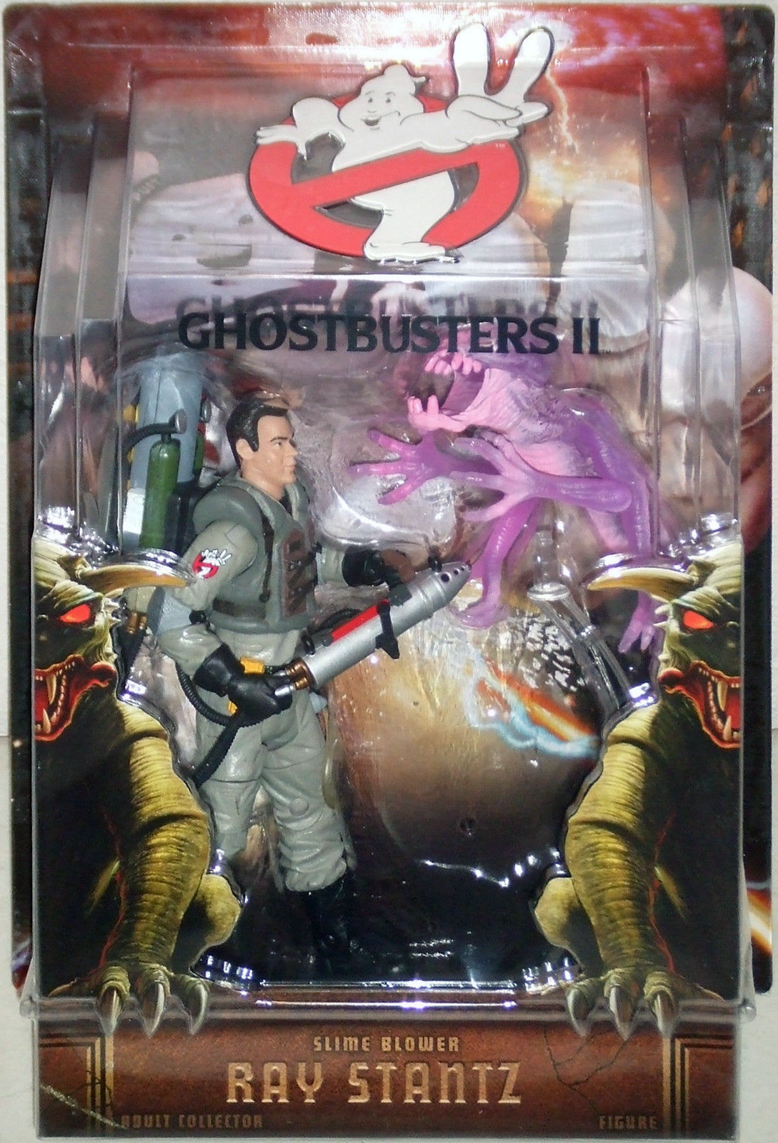 "Matty Collector: 6″ Ray Stantz ""Slime Blower"" with Cinema Ghost"