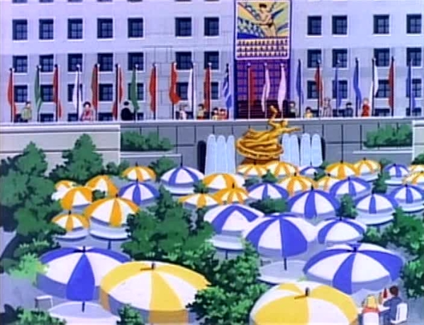Rockefeller Plaza/Animated