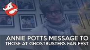 Annie Potts sends message to those at Ghostbusters Fan Fest
