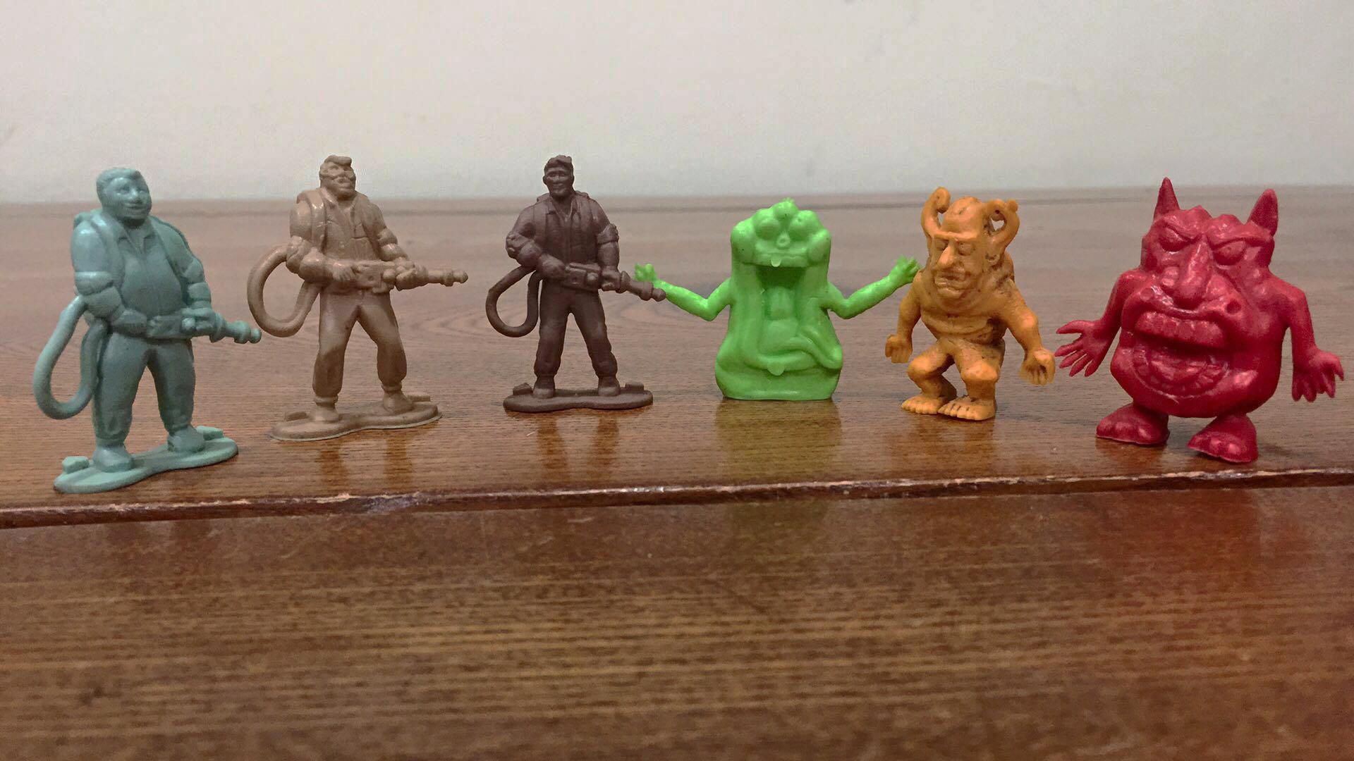 Cazafantasmas small rubbery figure set