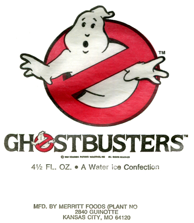 Ghostbusters Water Ice Confections