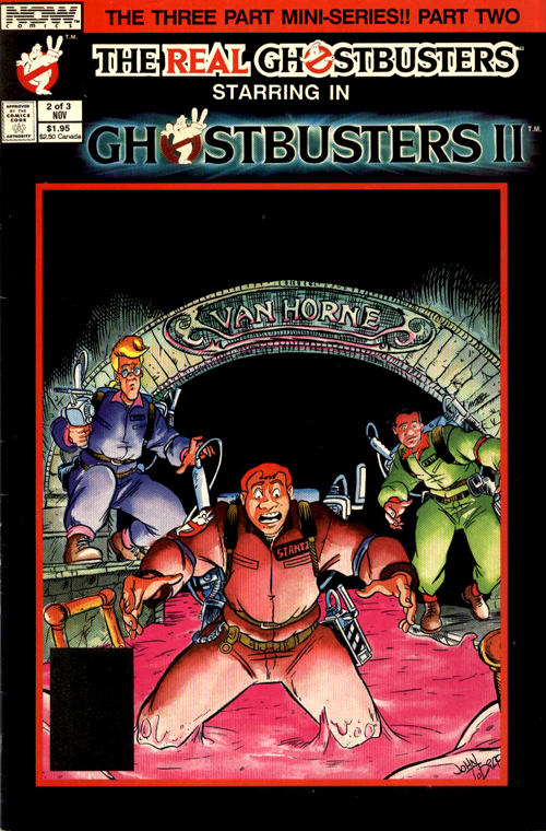 NOW Comics The Real Ghostbusters starring in Ghostbusters II part 2