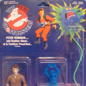 The Real Ghostbusters Peter Venkman /& Grabber Ghost Kenner Hasbro Action Figure