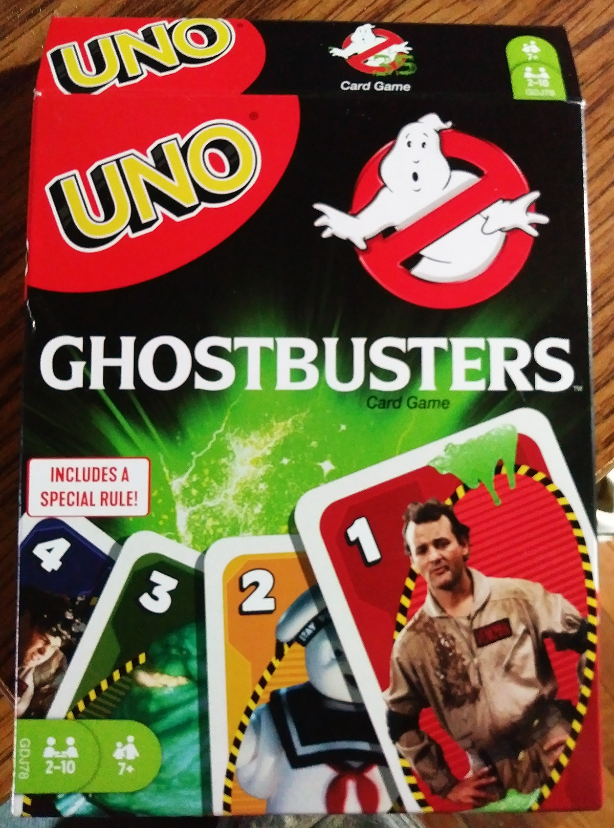 Mattel Games: Uno Ghostbusters (35th Anniversary) Card Game