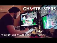 GHOSTBUSTERS- AFTERLIFE - T-Shirt Art Timelapse