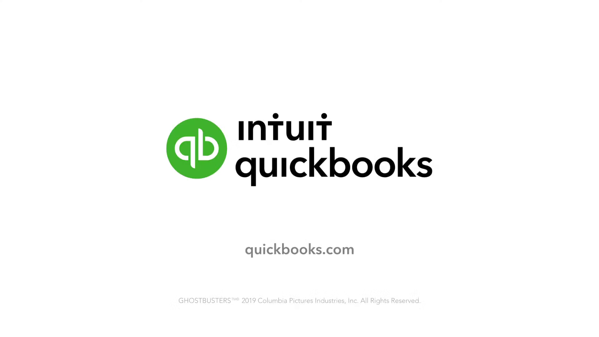QuickBooks advertising related to Ghostbusters