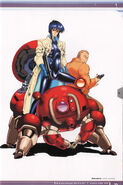 Ghost in the Shell Official Art Book PSOne Version 77
