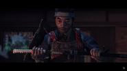 Samurai Jin Sakai holding his Katana