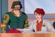 S04E18 Metalhead Reunion Gridiron and Suzan in the office
