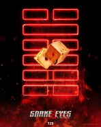 Snake Eyes dice poster