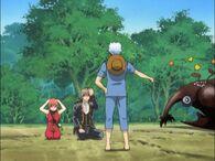 Kagura, Sougo, Gintoki and Sadomaru 22 Episode 65
