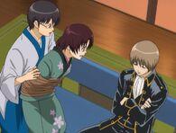 Shinpachi, Kirie and Sougo Episode 186