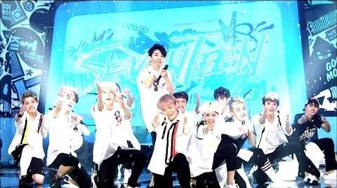 Hot Debut 세븐틴(SEVENTEEN) - 아낀다(Adore U) @인기가요 Inkigayo 20150531