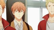 Mafuyu noticing Kasai trying to wake him up