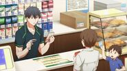 Ritsuka at the register