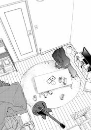 Chapter 9 page 2 panel 1 Yuki's room before his suicide