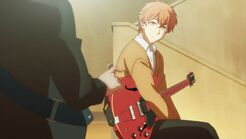 Ritsuka asking Mafuyu where he got the guitar