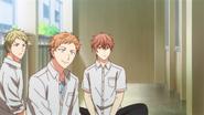 Ryou, Shogo & Mafuyu watching Ritsuka leave (21)