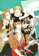 Mafuyu with Ritsuka, Akihiko, and Haruki