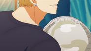 Akihiko about to smash the pie (54)