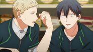 Akihiko knocking on Ritsuka
