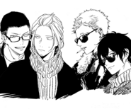 Akihiko, Haruki, Ugetsu, and Yatake
