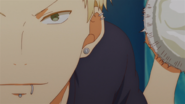 Akihiko smashing the pie into Haruki's face (55)
