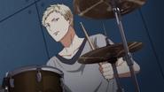 Akihiko practising the drums (23)