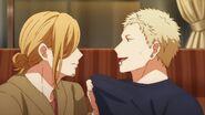 Akihiko asking Haruki if he wanted to see