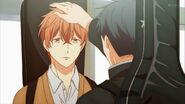 Ritsuka patting Mafuyu on the head