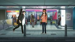 Ritsuka managing to find Mafuyu at the station