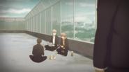 Yagi, Yuki & Mafuyu sitting on the rooftop (55)