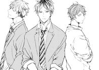 Mafuyu, Yuki, and Hiragi manga