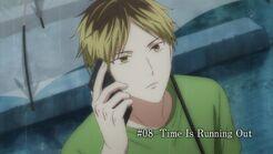 Episode 8 Hiiragi waiting outside