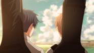 Mafuyu pushing Ritsuka with his shoulder (62)