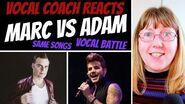 Vocal Coach Reacts to Marc Martel Vs Adam Lambert (Same Songs) VOCAL BATTLE