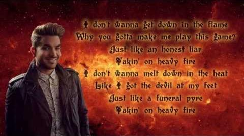 Adam Lambert - Heavy Fire (lyrics)