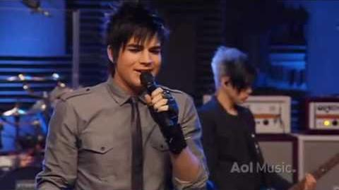 Adam Lambert If I Had You AOL Sessions 2010