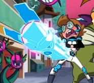 Ridley holding her glitch gun